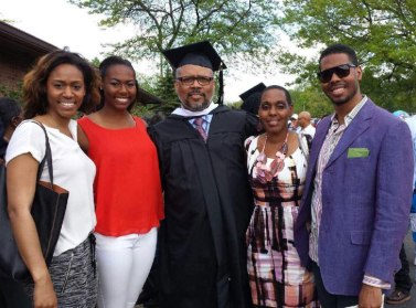 Elder Hayes with his daughters, Meredith and Camille, wife, Lisa, and son, Eric Jr.