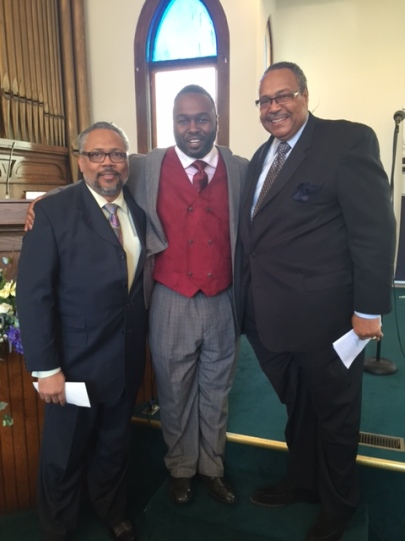 Pastor Daylon Dunn with our Elder Hayes and Rev. Hayes