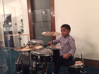 Maybe we've got a future drummer on our hands!