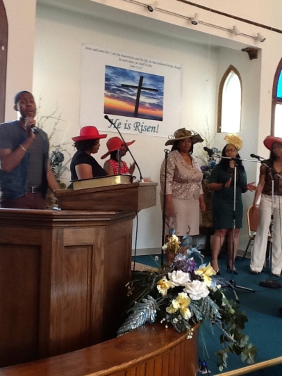 The choir singing at the annual Hat Show service. Photo by Stephanie Edwards