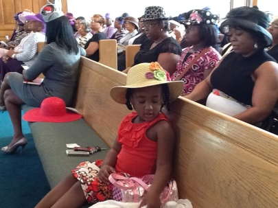 The congregation at the annual Hat Show service. Photo by Stephanie Edwards