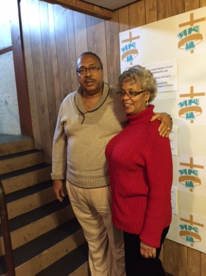 Rev. Robert Hayes and wife, Kate, at Christmas Brunch 2014